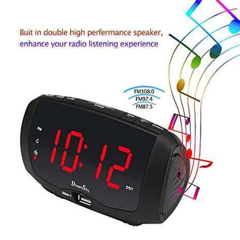 dreamsky digital alarm clock radio  dual usb ports