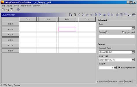 qt grid layout set number of rows swingempire formbuilder quickstart