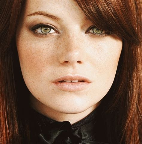 celebrities with red hair and green eyes emma stone green eyes and redheads on pinterest