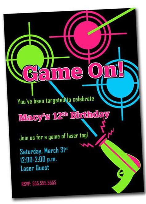 free printable birthday invitations laser tag laser tag party invitation printable digital file by khudd