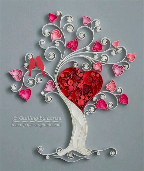 tutorial quilling heart quilling quilling arbol pinterest quilling paper