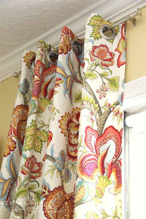 make your own curtains no sew how to make no sew curtains with grommets artsy chicks rule 174