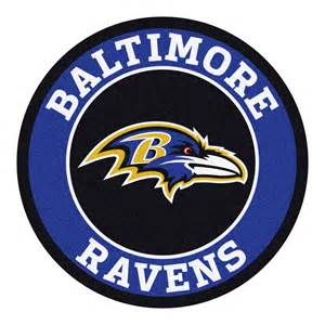Holiday Doormats Baltimore Ravens Logo Roundel Mat 27 Quot Round Area Rug