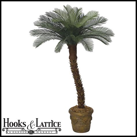 outdoor rated 6 ft artificial medium sago palm tree