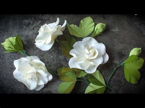gardenia paper flower tutorial 204 best craft ideas flowers images on pinterest