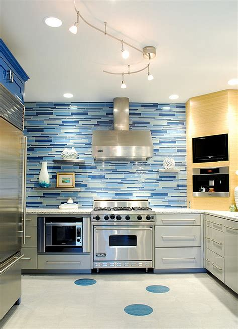 blue backsplash kitchen kitchen backsplash ideas a splattering of the most