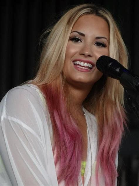 demi lovato inspired pink purple dip dye ombre hair 89 best h 229 rf 228 rg i sommar images on pinterest hairstyles