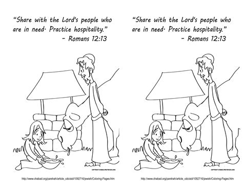 bible coloring pages on kindness isaac and rebekah fearfully and wonderfully made