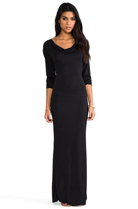 Saidah Maxi Umbrella Jersey Alijaya 1 lyst indah santee stretch jersey maxi dress in black