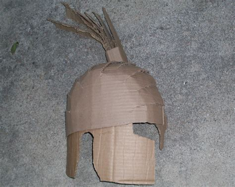 How To Make A Spartan Helmet Out Of Paper - how to make a spartan helmet out of cardboard ehow uk