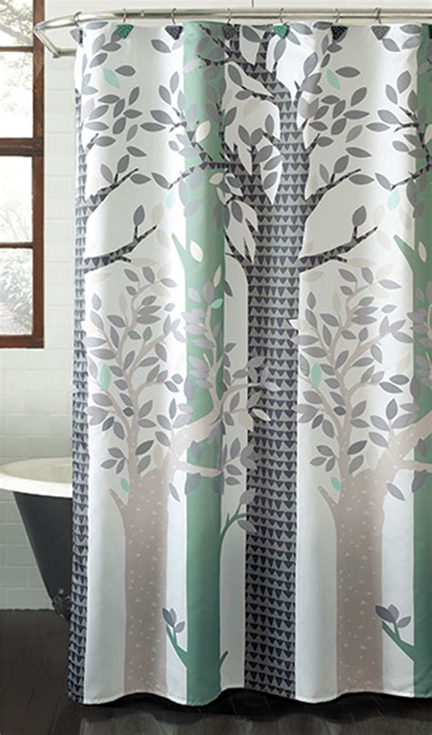 whimsical shower curtains colormate whimsical forest fabric shower curtain