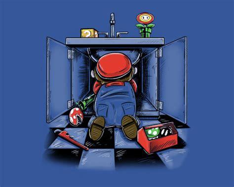 Mario Brothers Plumbing by Mario The Sink Shirtigo