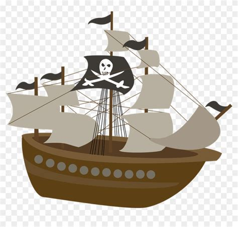 pirate boat clipart caravel clipart wood ship pirate ship transparent