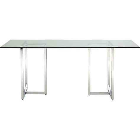 silverado rectangular dining table cb2