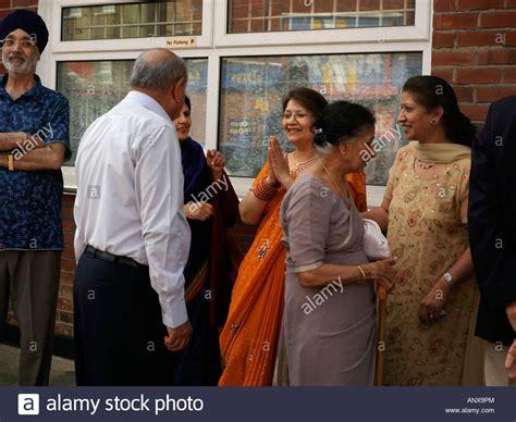 welcoming guests hindu engagement ceremony at hindu society wimbledon
