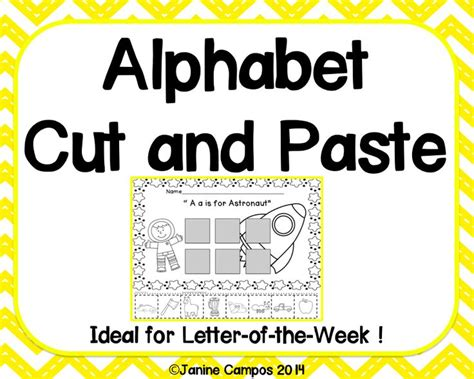 Research Letter Of The Week alphabet beginning sounds cut and paste pages