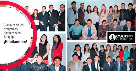 Mba Esan Arequipa by Cien Profesionales Culminaron Con 233 Xito Los Programas De