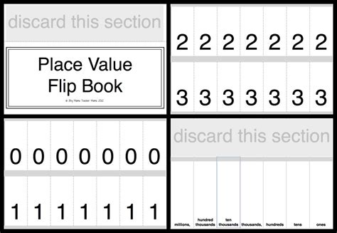Printable Place Value Card Template by Place Value Practice With A Flip Boy