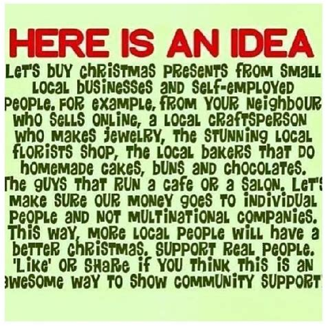 a great idea for christmas buy from self employed and