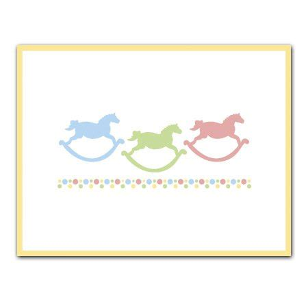 Embossed Gift Enclosure Cards - rocking horses embossed gift enclosure cards set of 12