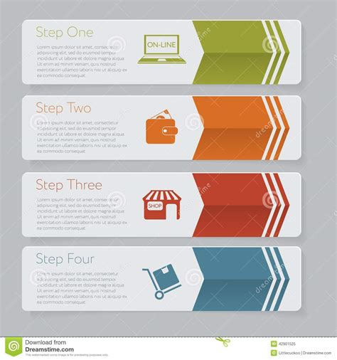 infographic design number banners template graphic or