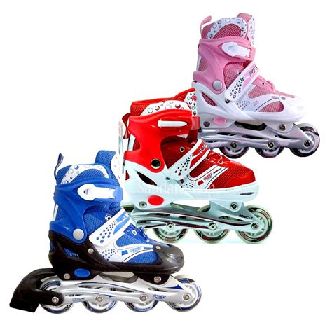 Sepatu Roda K Sepatu Roda Anak Sport Power Line Blue Pink Size