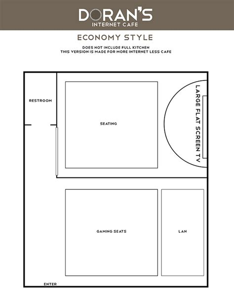 internet cafe floor plan doran s internet cafe floor plans on behance