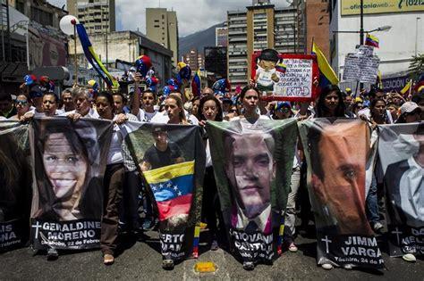 imagenes protestas en venezuela protesta en venezuela con los rostros de los muertos en