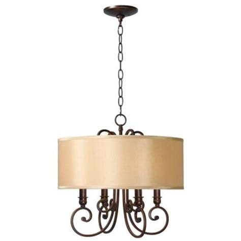 Home Depot Chandelier Shades World Imports Rue Maison 4 Lights Iron And Bronze Chandelier With Shades Wi350429 The