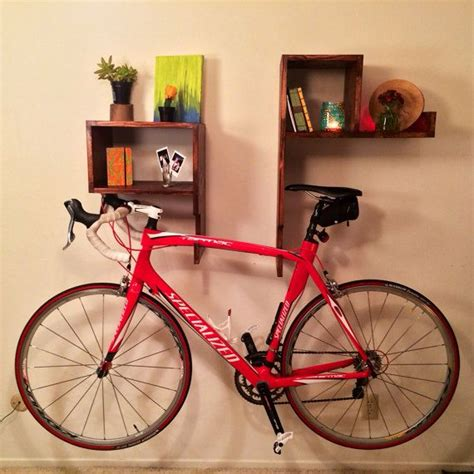 Wood Wall Bike Rack by Sale Modern Wood Bike Rack On Wall With Shelves And