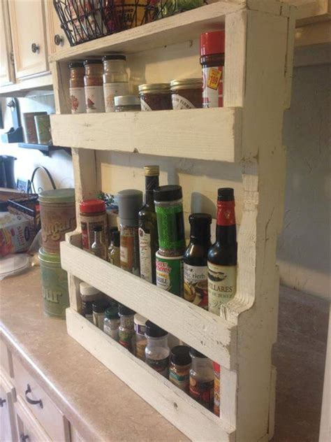 diy spice rack from wood pallet pallet spice rack for kitchen pallet furniture diy