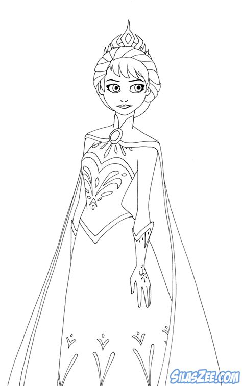 coloring book pages elsa free coloring pages of elsa coronation