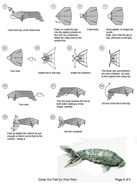 Origami Fish Directions - origami koi fish easy comot
