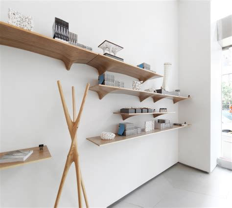 Plywood Shelf by Organically Shaped Plywood Shelves By Matter Design