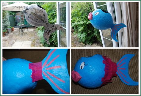 How To Make A Pinata With Paper Mache - how to make a paper m 226 ch 233 pi 241 ata fish paper make your