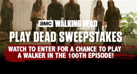 Who Won The Walking Dead Sweepstakes - amc the walking dead play dead sweepstakes sun sweeps