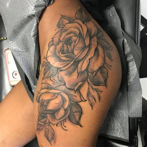 roses thigh tattoos 896 best tattooss images on flower tattoos on