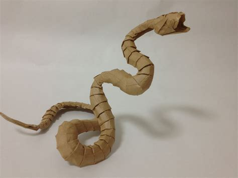 How To Make Paper Snake - i asped when i saw these origami snakes