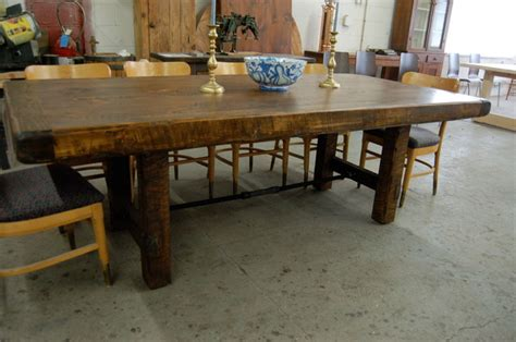 Rustic Farm Dining Table Rustic Farm Table With Turnbuckle Contemporary Dining Tables Providence By Lorimer Workshop