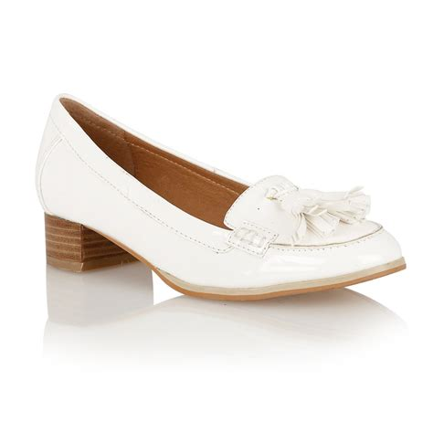 loafers heels buy ravel magnolia loafers in blackwhite patent
