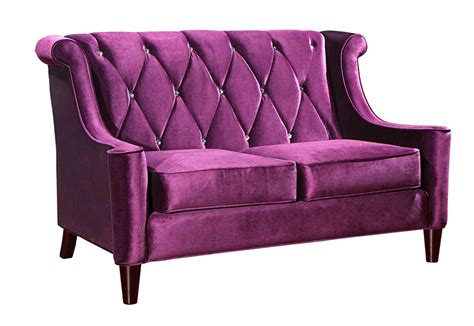 velvet sofa sets armen living barrister velvet sofa set purple