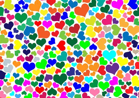 colorful hearts clipart colorful hearts background