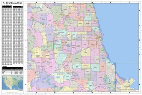 chicago map with zip codes chicago map zip codes