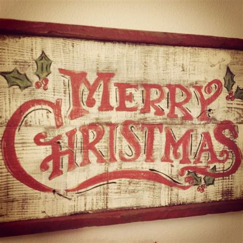 merry christmas hand painted sign wood creations pinterest