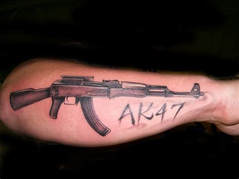 ak47 tattoo by hatefulss on deviantart