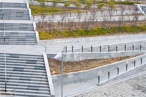 The stairs and wheelchair ramp stock photo image of green help 38226984
