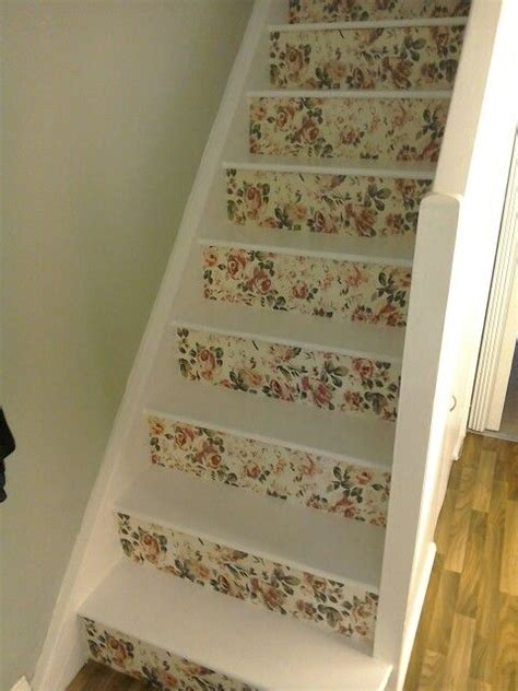 decoupage stairs my decoupage stairs home ideas shabby