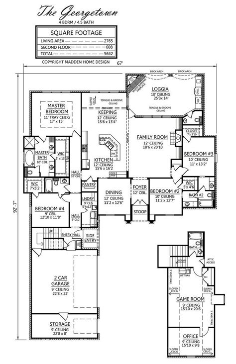 madden home design the georgetown floor plans