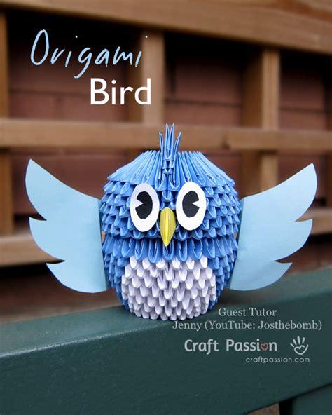 Diy Origami Owl - 3d bird origami