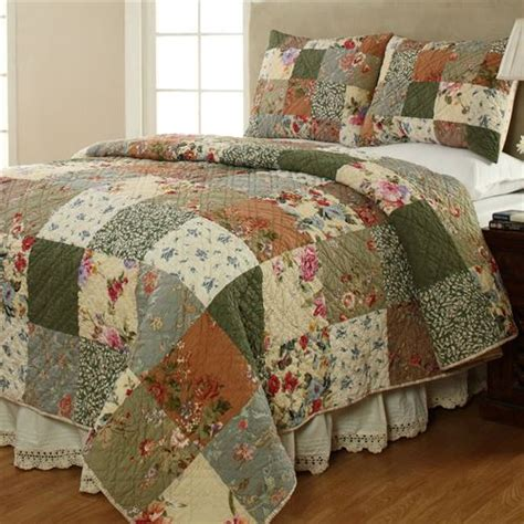 Patchwork Comforters - cotton patchwork quilt set bedding